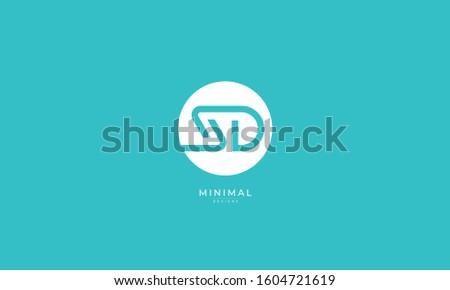 Alphabet letters monogram icon logo SD or DS Zdjęcia stock ©