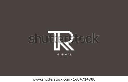 Alphabet letters monogram icon logo TR or RT Stock fotó ©