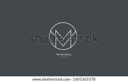 Alphabet letters monogram icon logo VM or MV Stock fotó ©