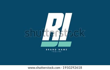 Alphabet letters Monogram Initials BL, LB, B and L Stock fotó ©