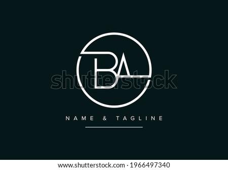 Alphabet letters monogram logo BA or AB Zdjęcia stock ©
