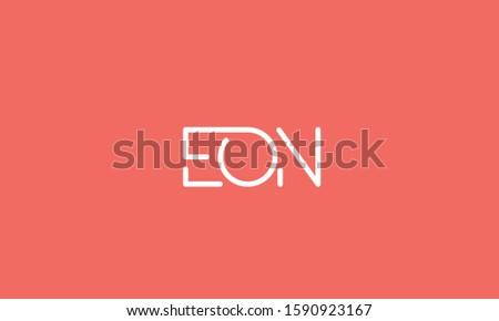 Alphabet letters monogram logo EON,NOE,OEN,E,N and O