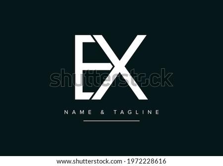 Alphabet letters monogram logo EX or XE ストックフォト ©