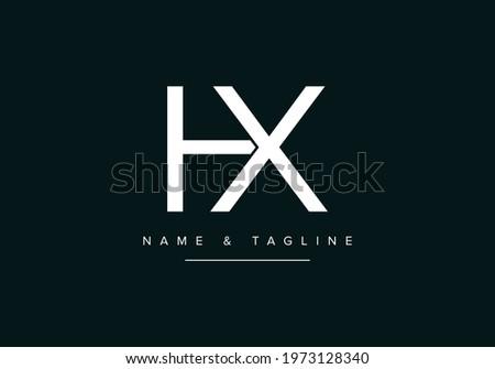 Alphabet letters monogram logo HX or XH Stock photo ©