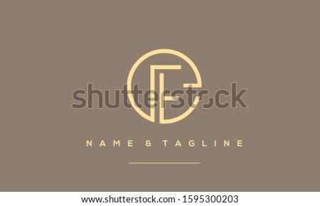 Alphabet letters monogram logo icon EF,FE,E and F  Photo stock ©