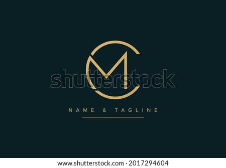 Alphabet letters monogram logo MC or CM Stock fotó ©