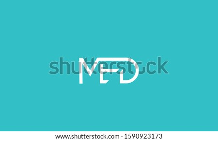 Alphabet letters monogram logo MED,EDM,DME,M,D and E Stok fotoğraf ©