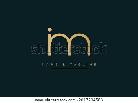Alphabet letters monogram logo MI or IM Stok fotoğraf ©