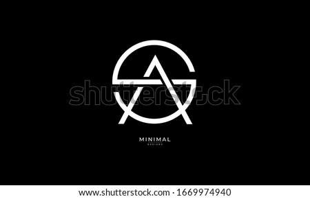 Alphabet letters monogram logo  SA or AS Stok fotoğraf ©