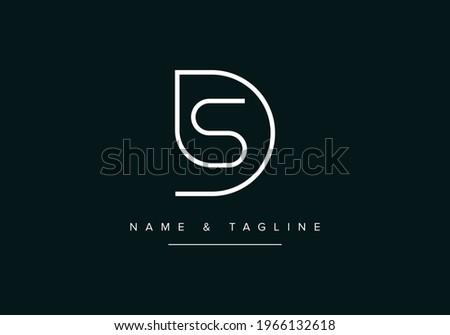 Alphabet letters monogram logo SD or DS Zdjęcia stock ©