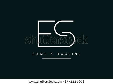 Alphabet letters monogram logo SE or ES Stock fotó ©