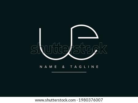 Alphabet letters monogram logo UE or EU Foto stock ©