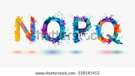 alphabet letters n  o  p  q
