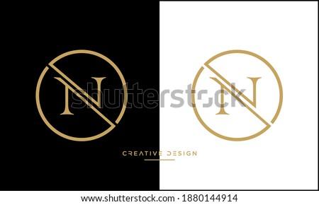 Alphabet Letters NV or VN icon Logo Imagine de stoc ©