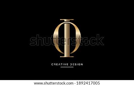 Alphabet Letters OI or IO Initial Logo Emblem Monogram Foto stock ©