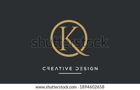 Alphabet letters OK or KO Abstract icon logo Zdjęcia stock ©