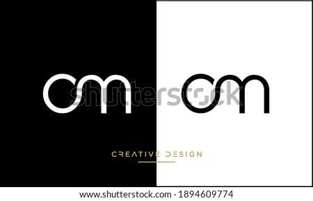 Alphabet Letters Om or MO Abstract icon Monogram Logo Foto stock ©