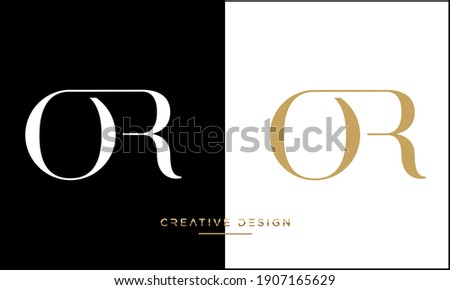 Alphabet Letters OR and RO Abstract Icon Logo monogram Foto stock ©