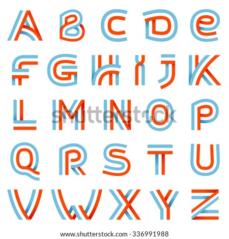 alphabet letters set this