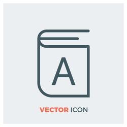 alphabet line vector icon