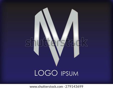 alphabet logo designletter m