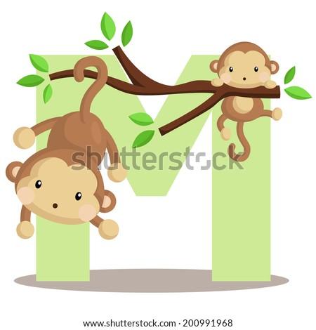 alphabet m for monkey