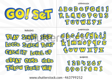 alphabet  numbers  and phrases