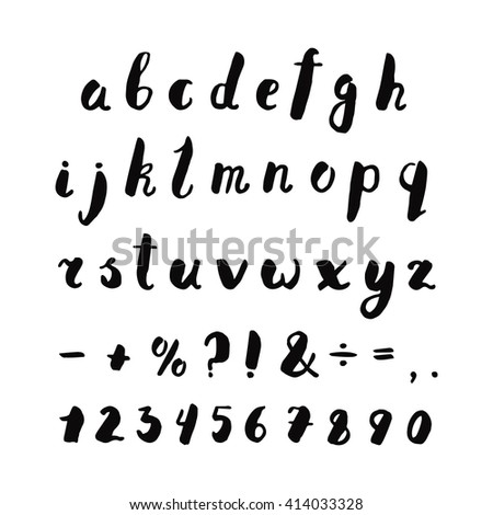 alphabet  numbers and