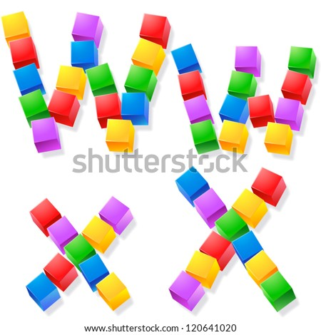 alphabet of children's blocks
