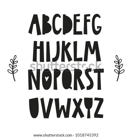 alphabet poster for baby room