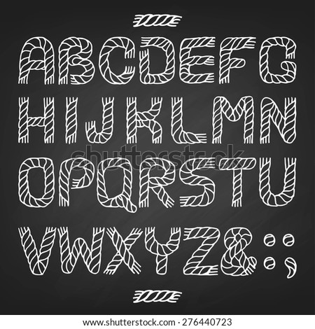 alphabet rope vectorenglish