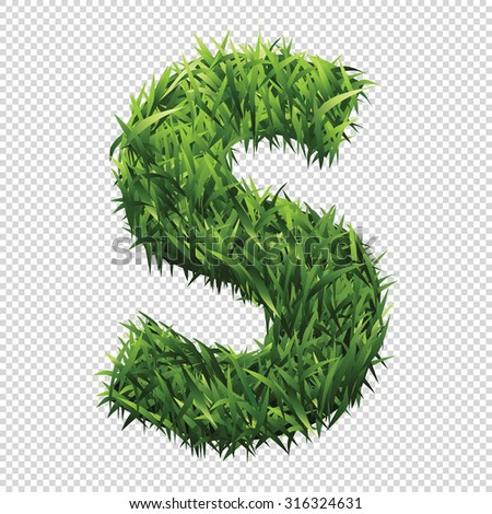 alphabet s of green grass a