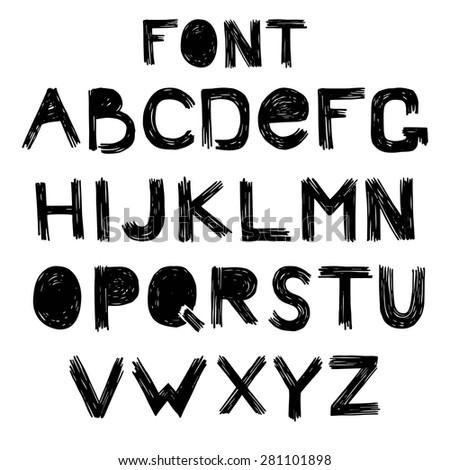 alphabet  scratch vector