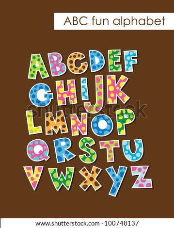 alphabet set design. vector illustration