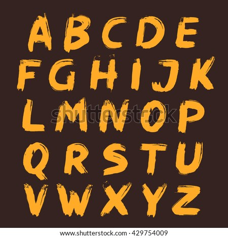 alphabet set painted with a
