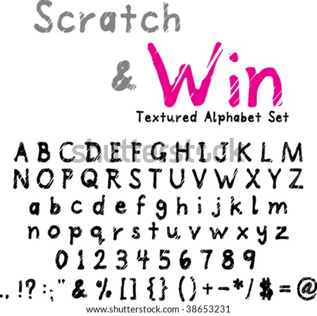Alphabet Set with Numerals and Punctuation - Scratchy