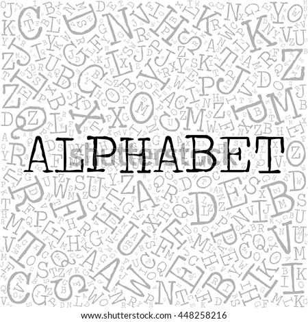 stock-vector-alphabet-theme-with-letter-pattern-on-the-background-grey-vector-letters-with-highlighted-word