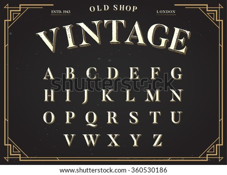 alphabet vector font all