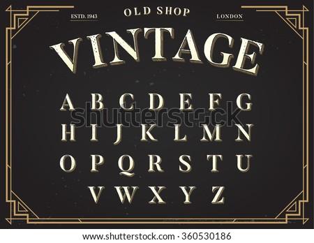 alphabet vector font all