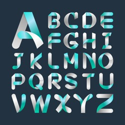 Alphabet Vector Font.Capital letter A to Z. Vector illustration.