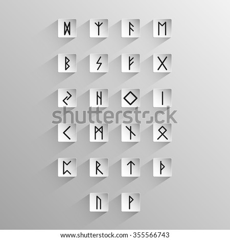 alphabet with ancient old norse