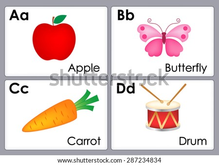 alphabet with colorful pictures