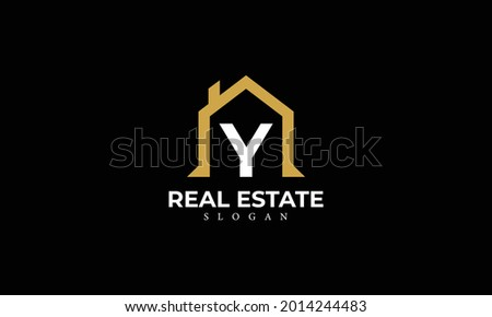 Alphabet Y Real Estate Monogram Vector Logo Design, Letter Y House Icon Template Zdjęcia stock ©