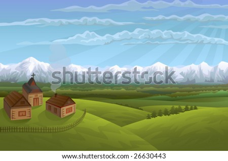 alpine village