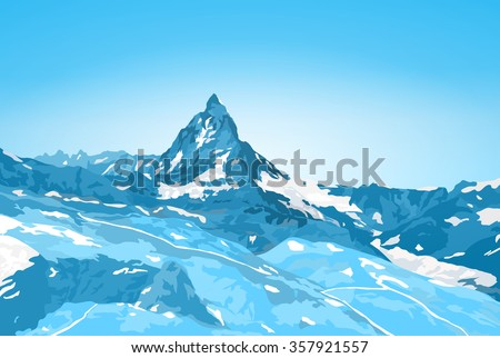 alps matterhorn mountain winter