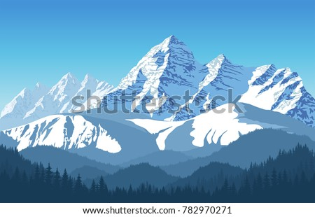 alps mountain landscape at