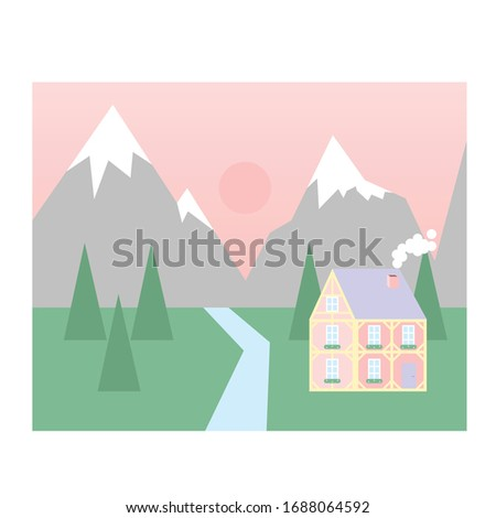 alps mountains landscape with