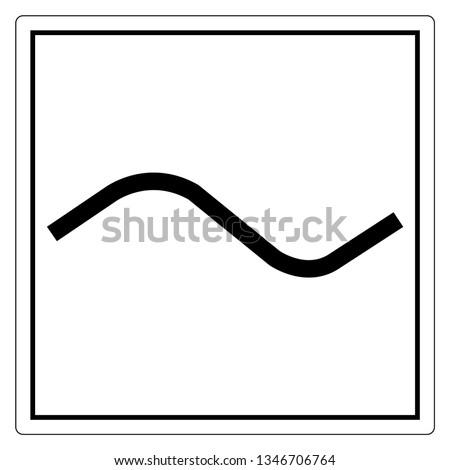alternating current ac symbol