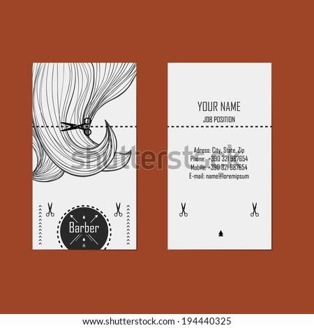 alternative design business cards for hairdresser (barber)