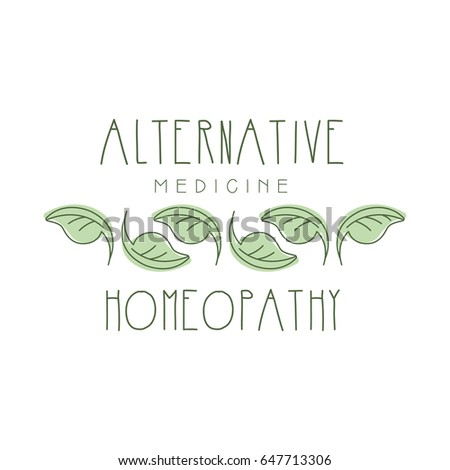 Alternative medicine homeopathi logo symbol vector Illustration